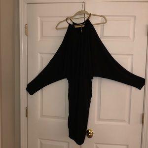 Black Boston Proper cold shoulder mini dress